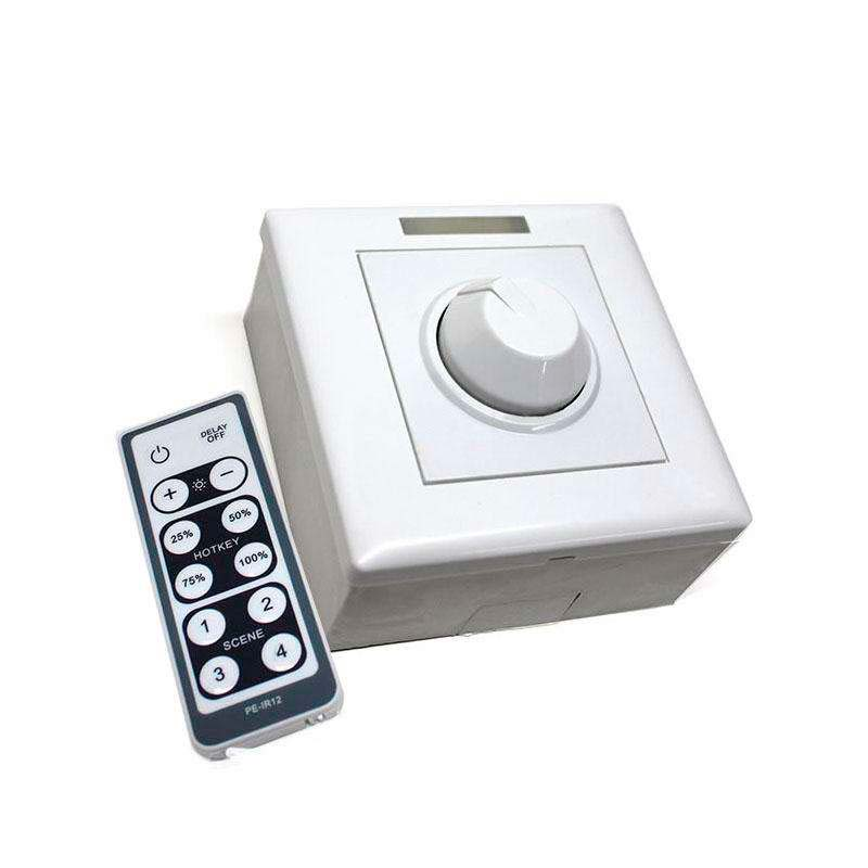 Regulador Dimmer LED + mando IR 800W, 0-10V